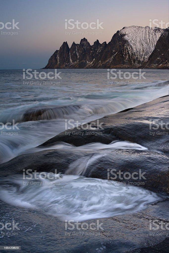 Tungenesset Sunset, Senja royalty-free stock photo
