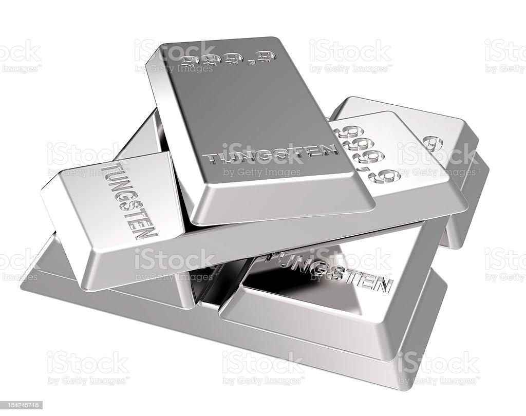 Tungsten Bars stock photo