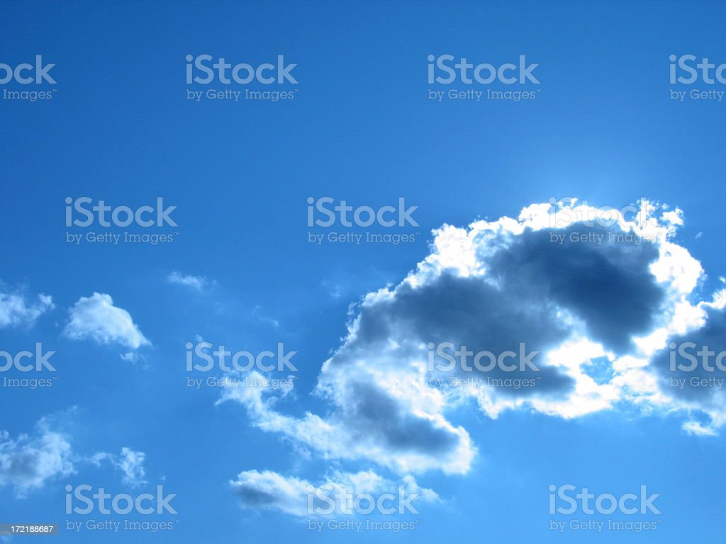 Tungsten Blue Sky with Clouds #2 royalty-free stock photo