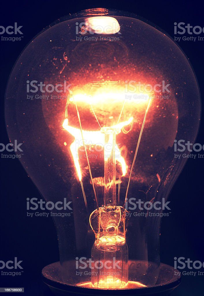 Tungsten bulb royalty-free stock photo