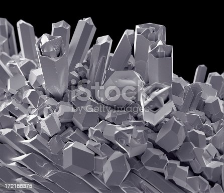 Tungsten lightbulb filament at 624 x magnification in a scanning electron microscope