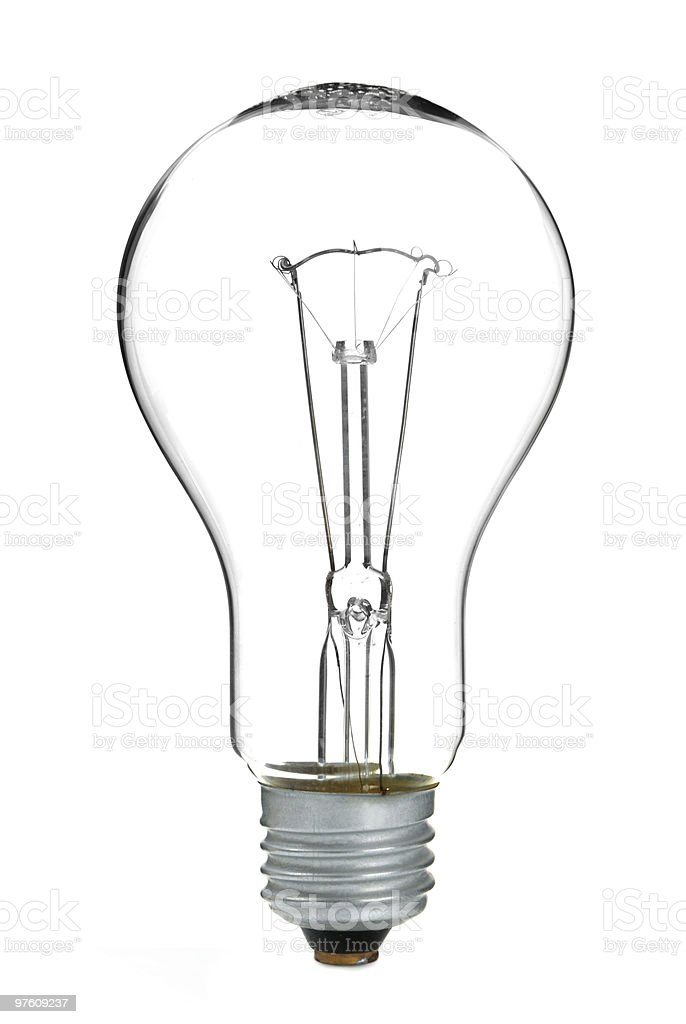 tungsten light bulb royalty-free stock photo