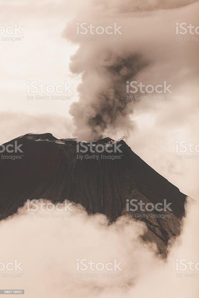 Tungurahua Volcano Crater stock photo