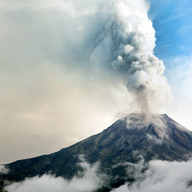 Tungurahua volcano eruption  volcanic landscape stock pictures, royalty-free photos & images