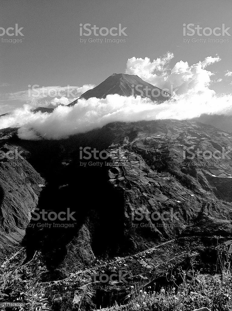 Tungurahua volcano eruption royalty-free stock photo