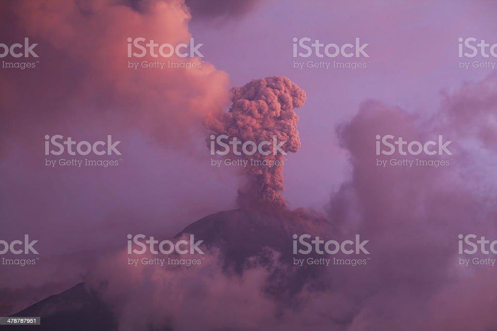 Tungurahua Volcano Smoldering stock photo