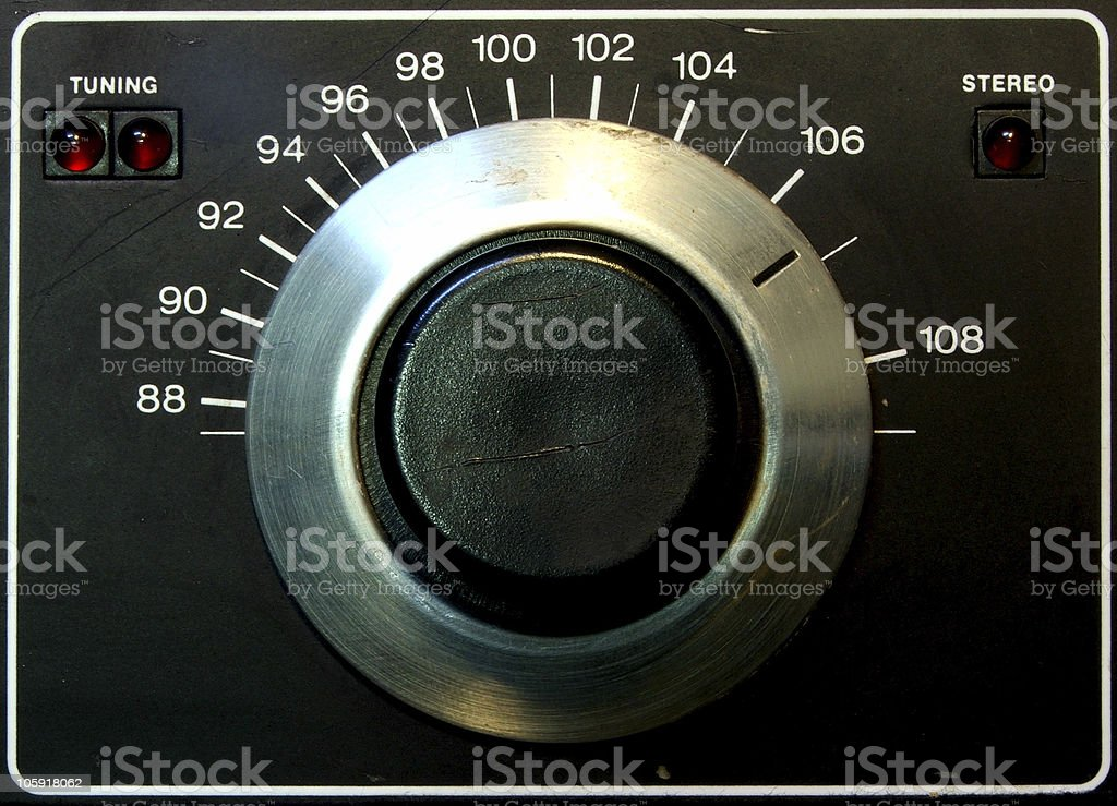 Tuning Dial royalty-free stock photo