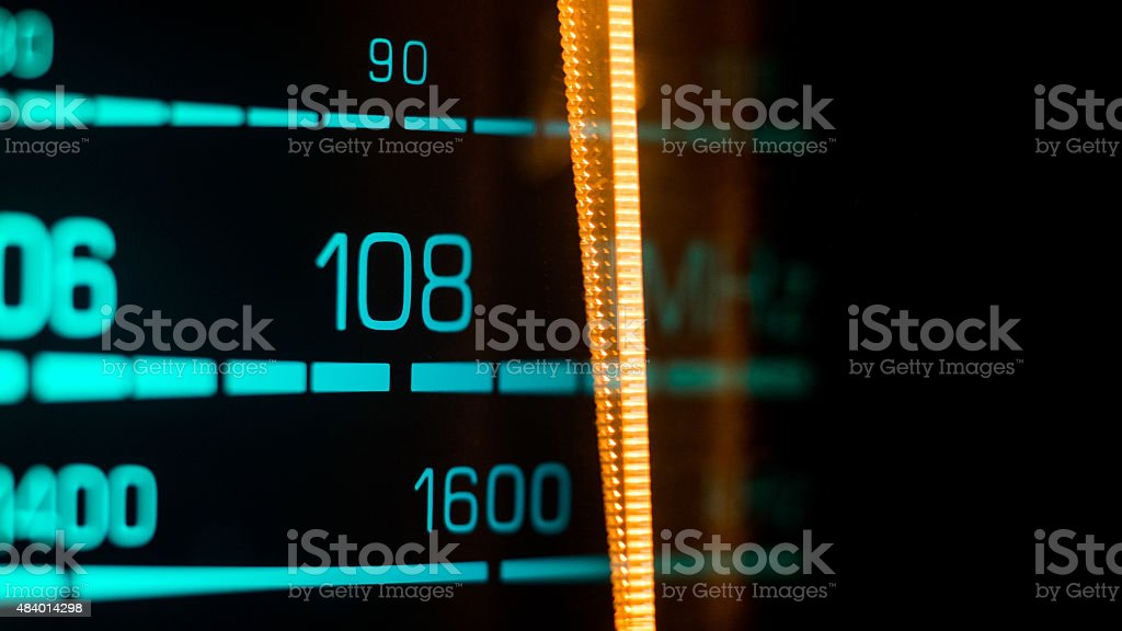 Tuning into 108FM, 1600Khz AM stock photo