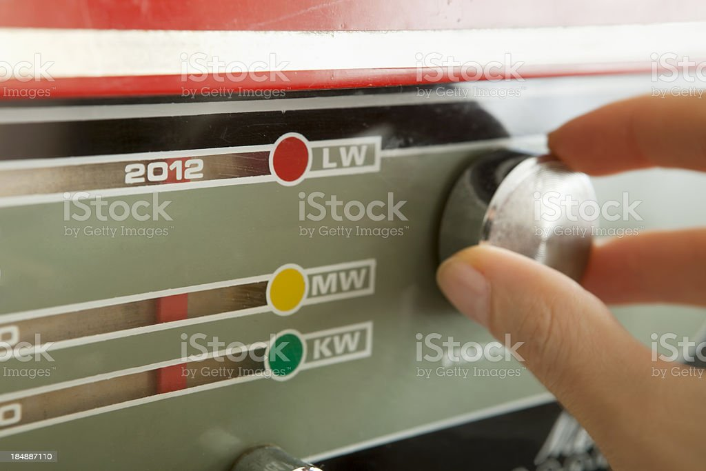tuning into 2012 stock photo