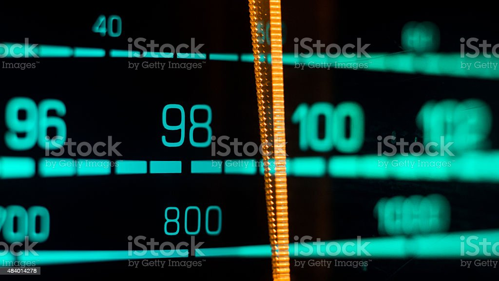 Tuning into 98FM, 800Khz AM stock photo