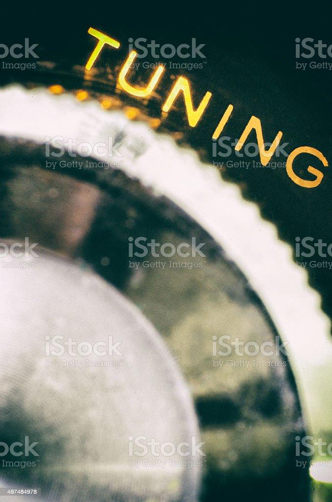 Tuning Knob stock photo