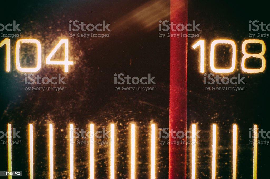 Tuning Needle stock photo