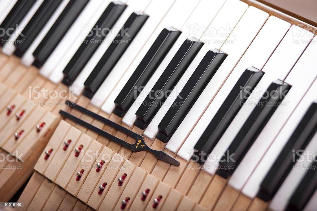 tuning piano royalty-free stock photo