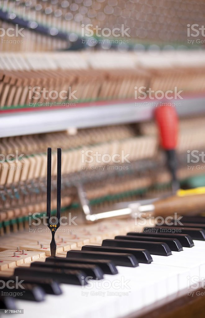 tuning piano royalty-free stock photo