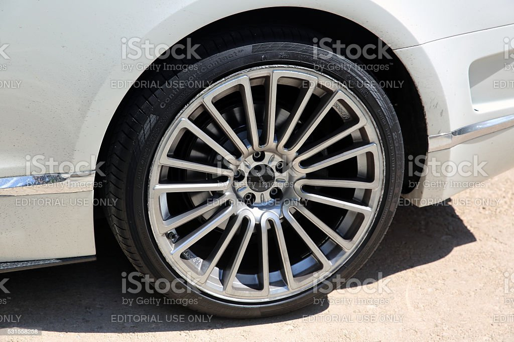 Tuning wheels for Bentley Continental GT Mansory stock photo