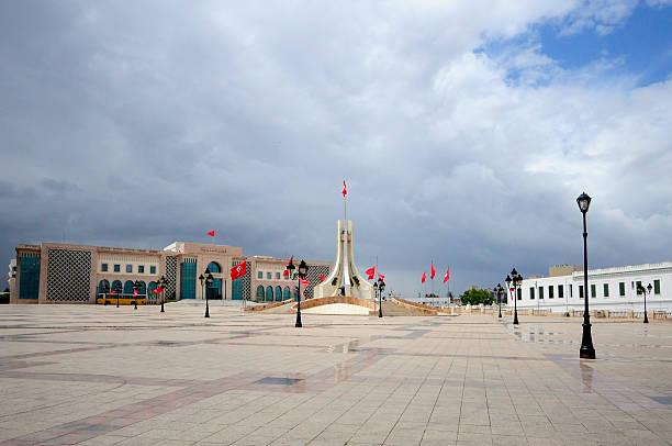 tunis main square. kasbah square - kasbah bildbanksfoton och bilder