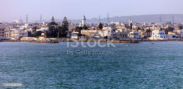 Tunis Skyline and Tunisia Coastline on the Mediterranean Sea