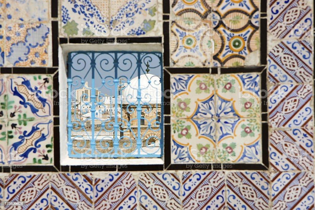 Tunis view through window royalty-free stock photo