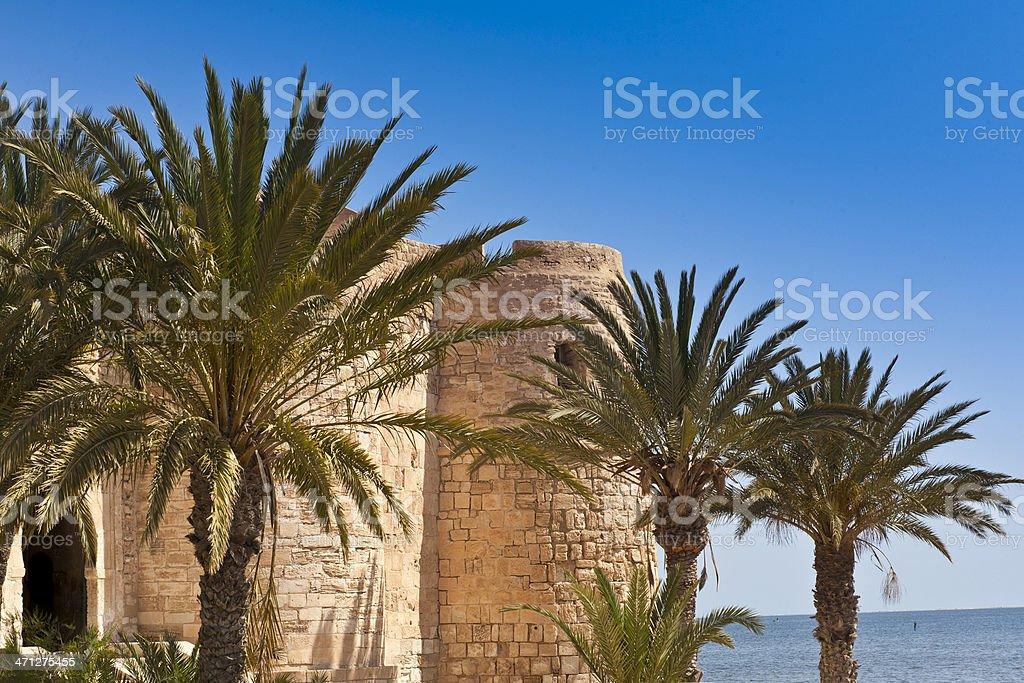 Tunisia: Fort Ghazi Mustapha on the Island of Djerba stock photo