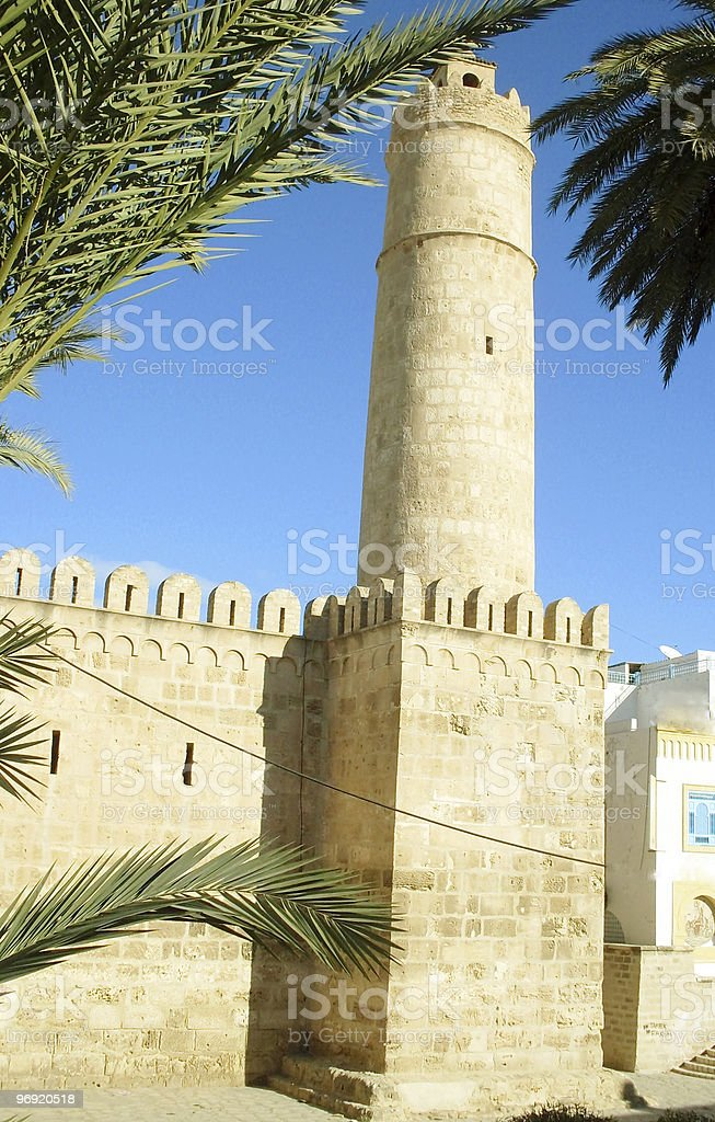 Tunisia, fortress in town Suss. royalty-free stock photo