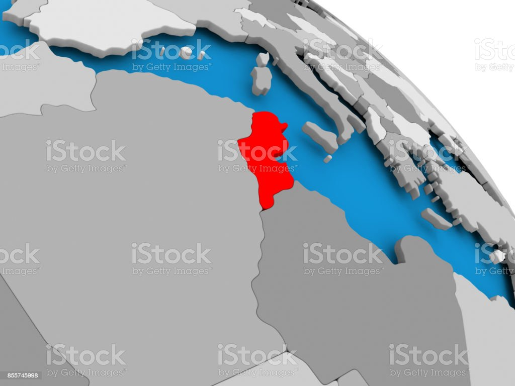 Picture of: Tunisia In Red On Map Stock Photo Download Image Now Istock