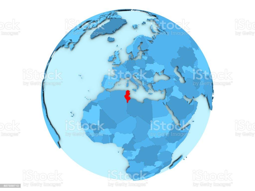 Picture of: Tunisia On Blue Globe Isolated Stock Photo Download Image Now Istock