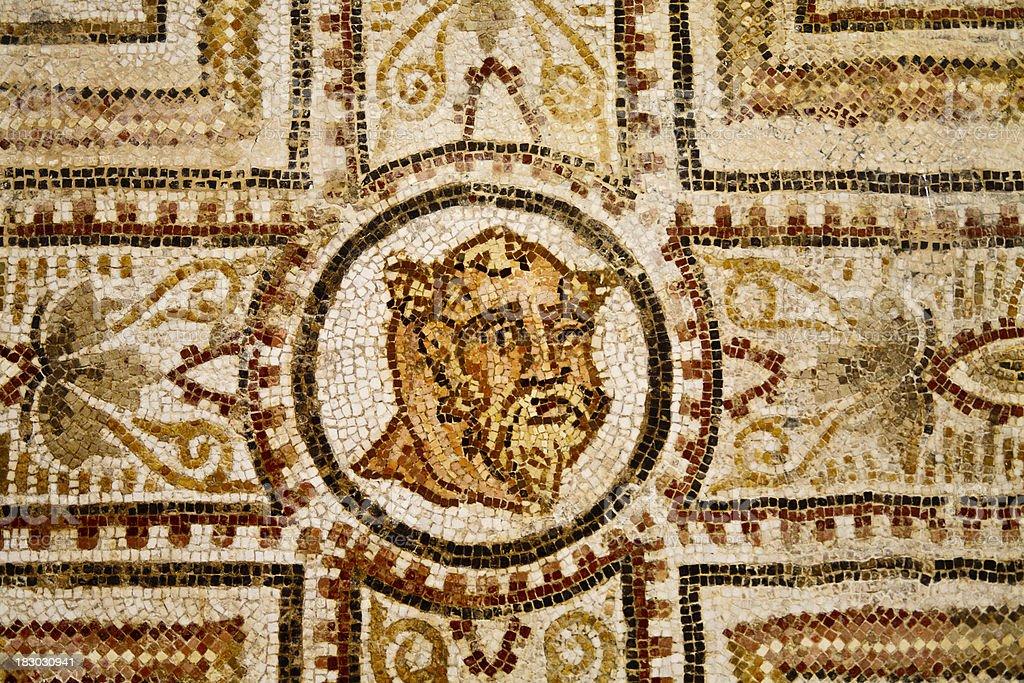 Tunisia: Roman Mosaic Tile Design at El Djem stock photo