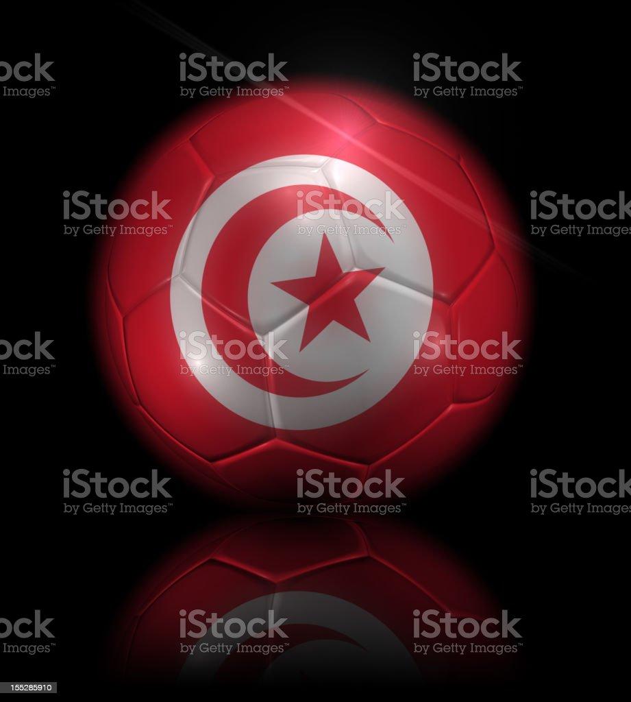 Tunisia soccer ball stock photo