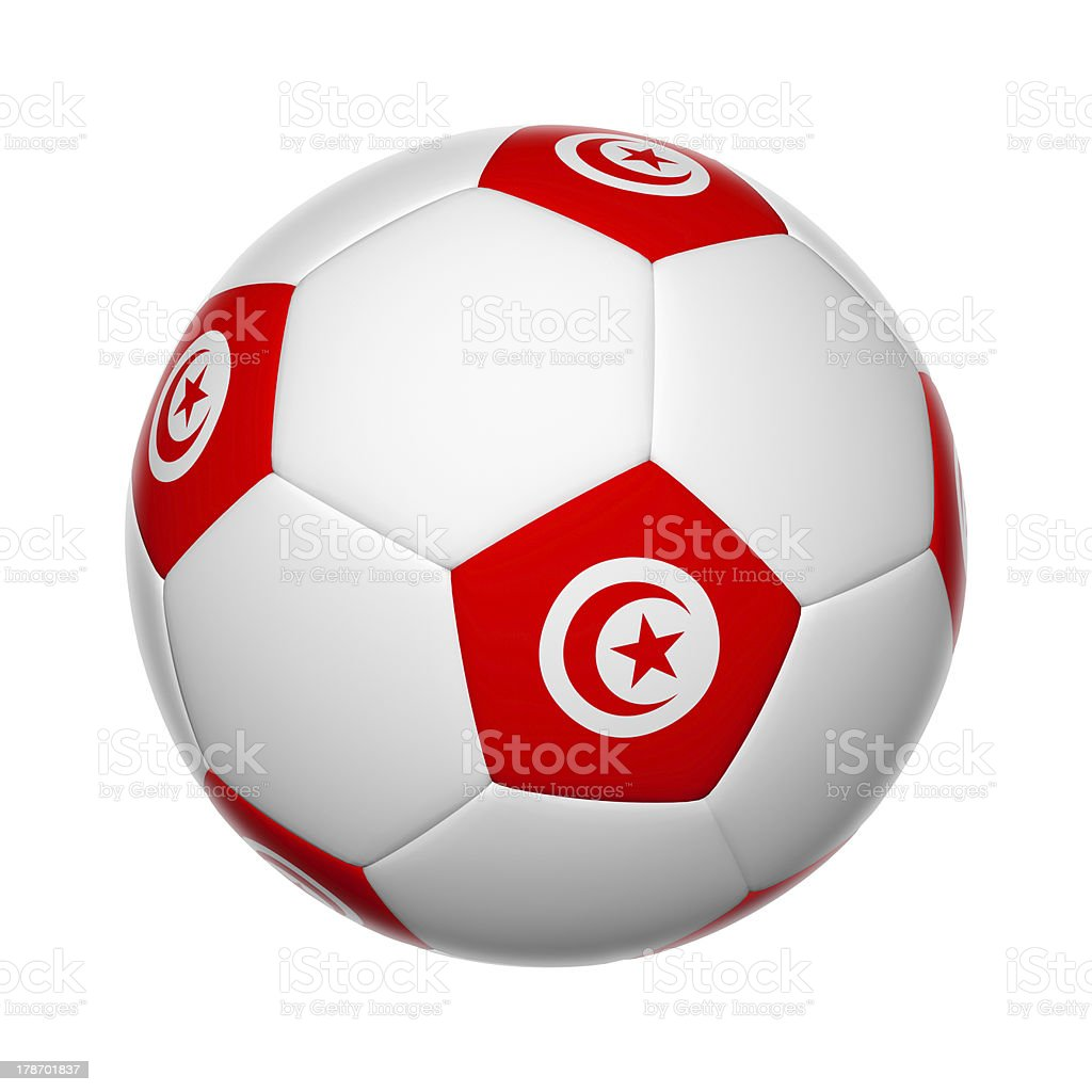 Tunisia soccer ball stock photo