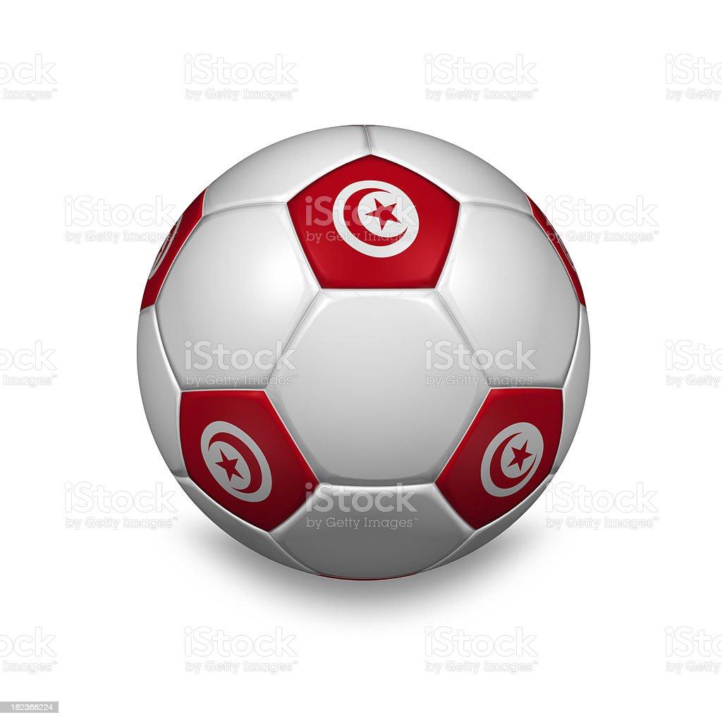 tunisia soccer ball royalty-free stock photo