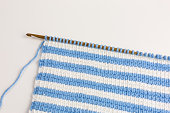 striped background of tunisian crochet fabric in basic stitch
