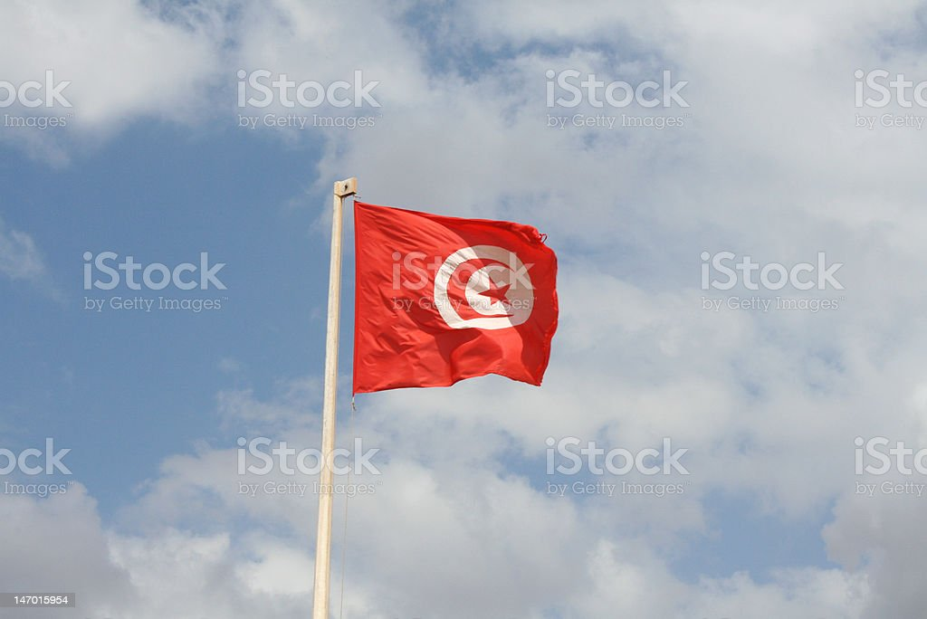 Tunisian flag stock photo