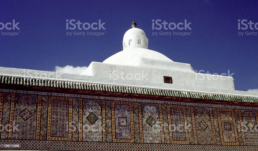 Tunisian mosaic Building 1 royalty-free stock photo
