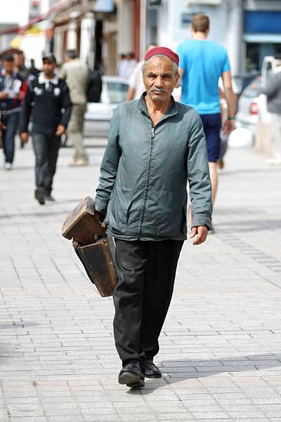 Tunisian on the street of Tunis stock photo