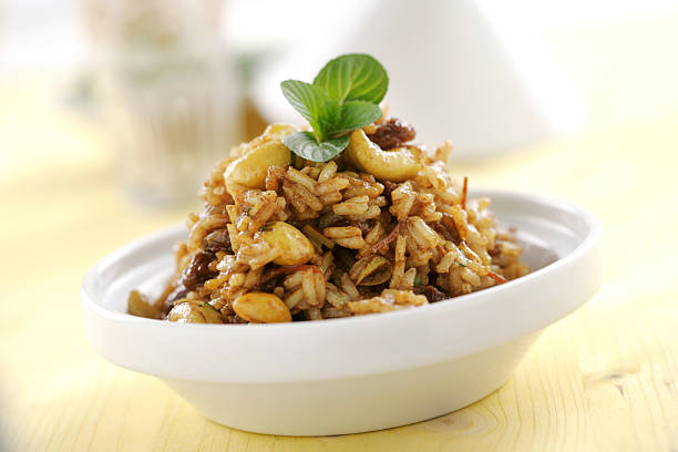 Tunisian rice Tunisian rice with herbs el tajin stock pictures, royalty-free photos & images