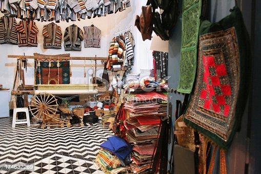 Souvenirs clothes store and workshop