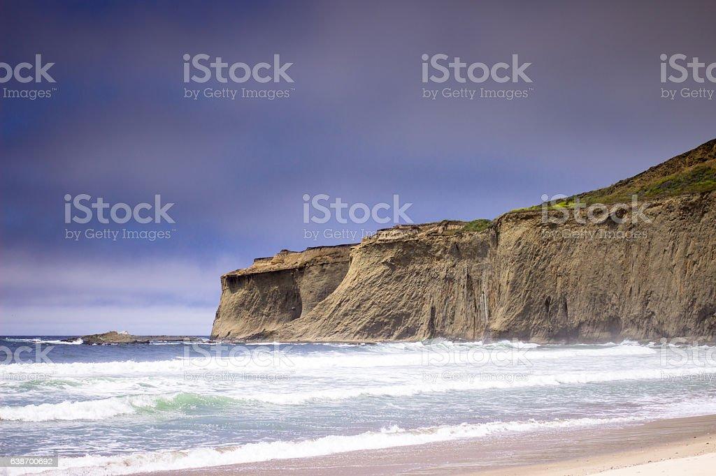 Tunitas Creek Beach, California Coast stock photo
