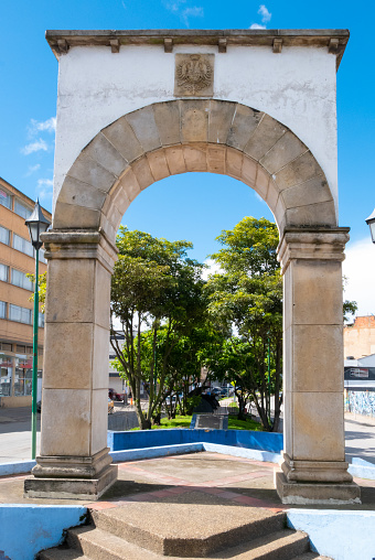 Tunja Roman arch in the district of Los Hongos Colombia