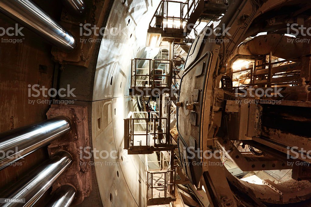Tunnel and tbm stock photo