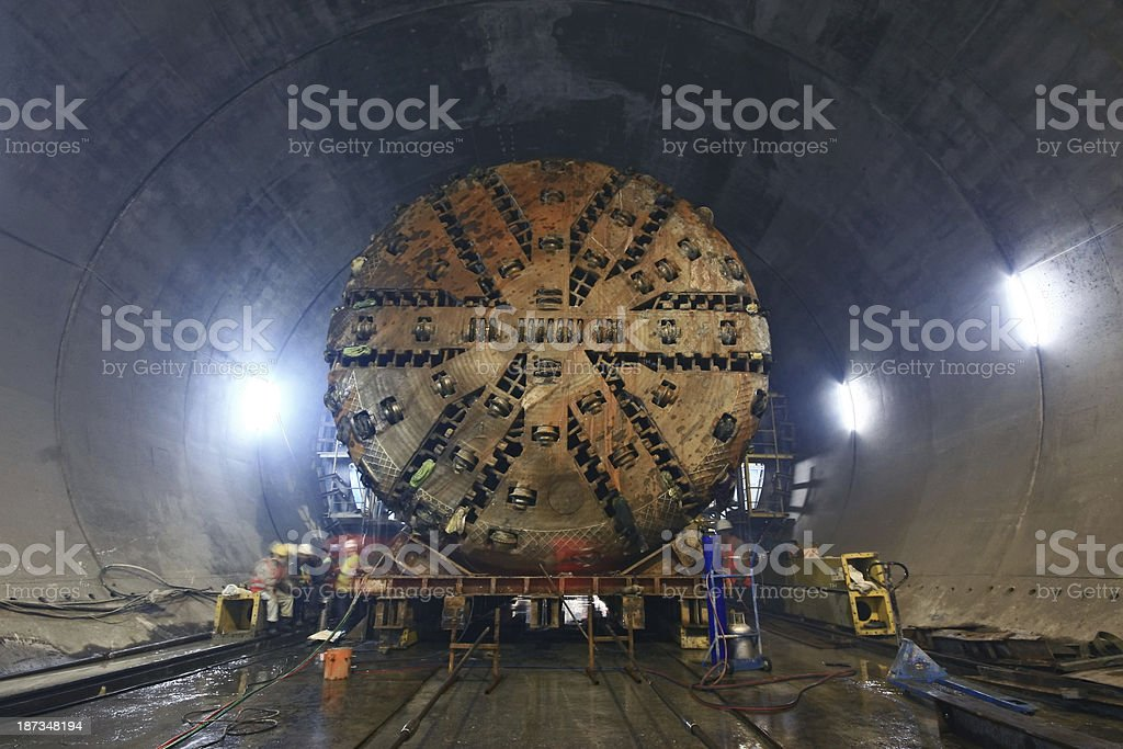 Tunnel Boring Machine stock photo