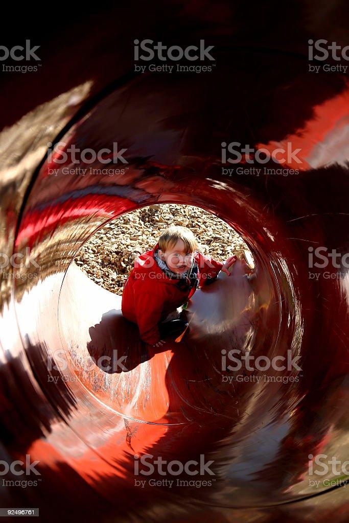 Tunnel boy royalty-free stock photo