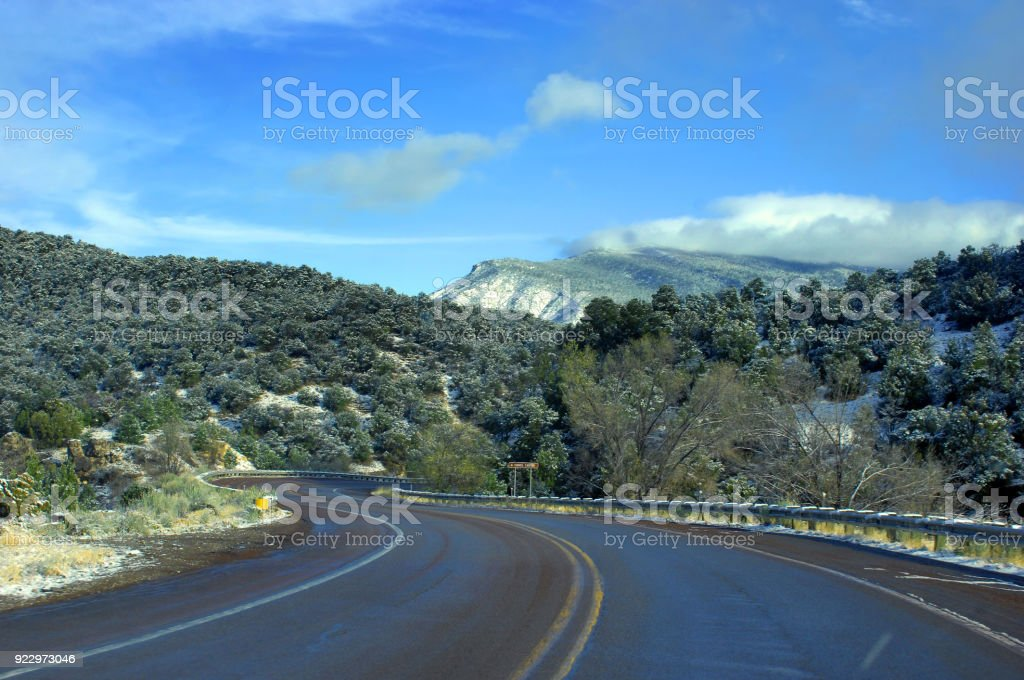 Tunnel Canyon Road stock photo
