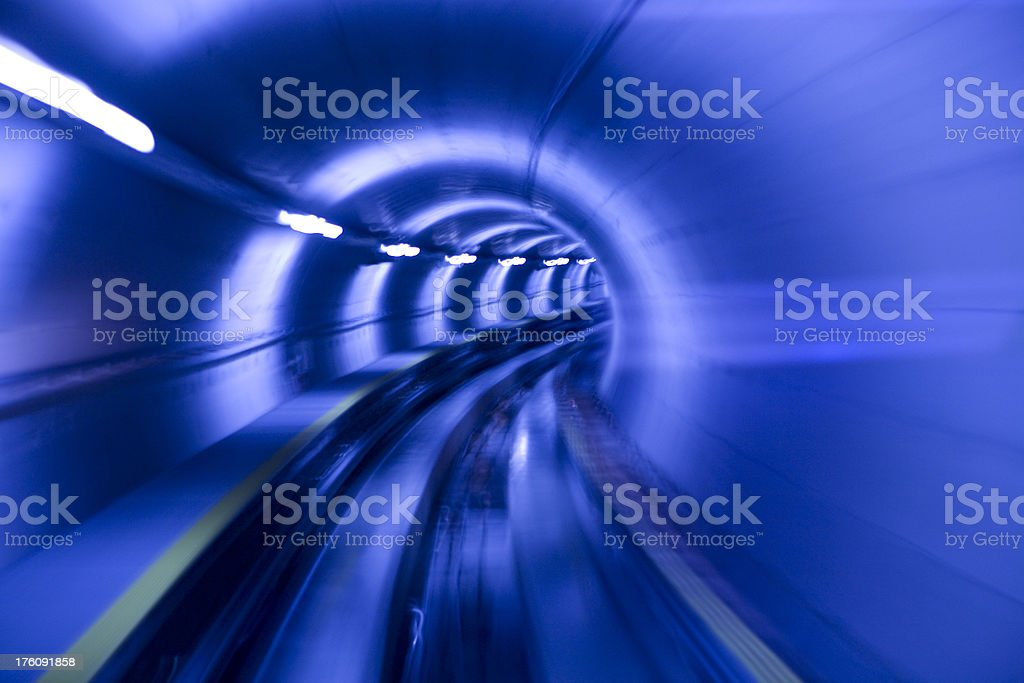 Tunnel Curves royalty-free stock photo