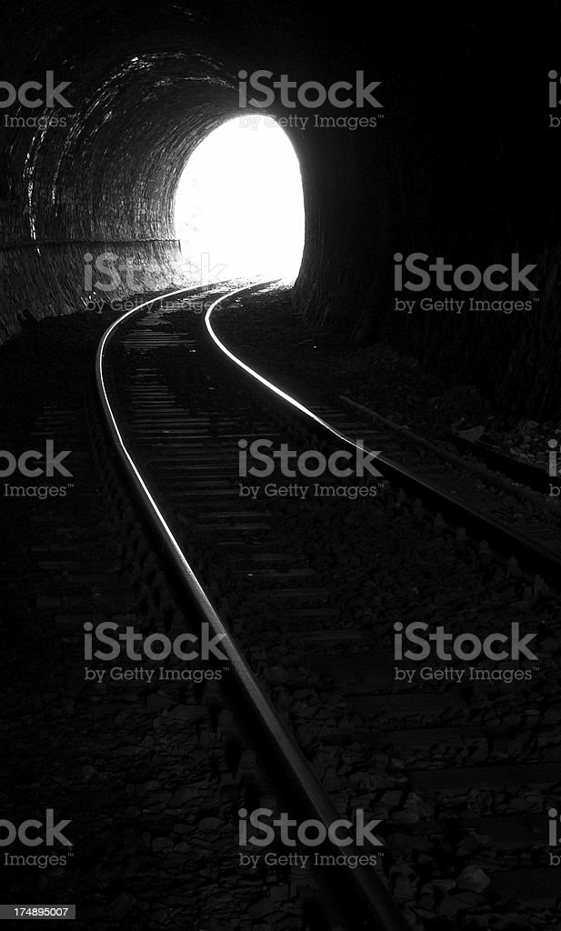 Tunnel End 1 stock photo
