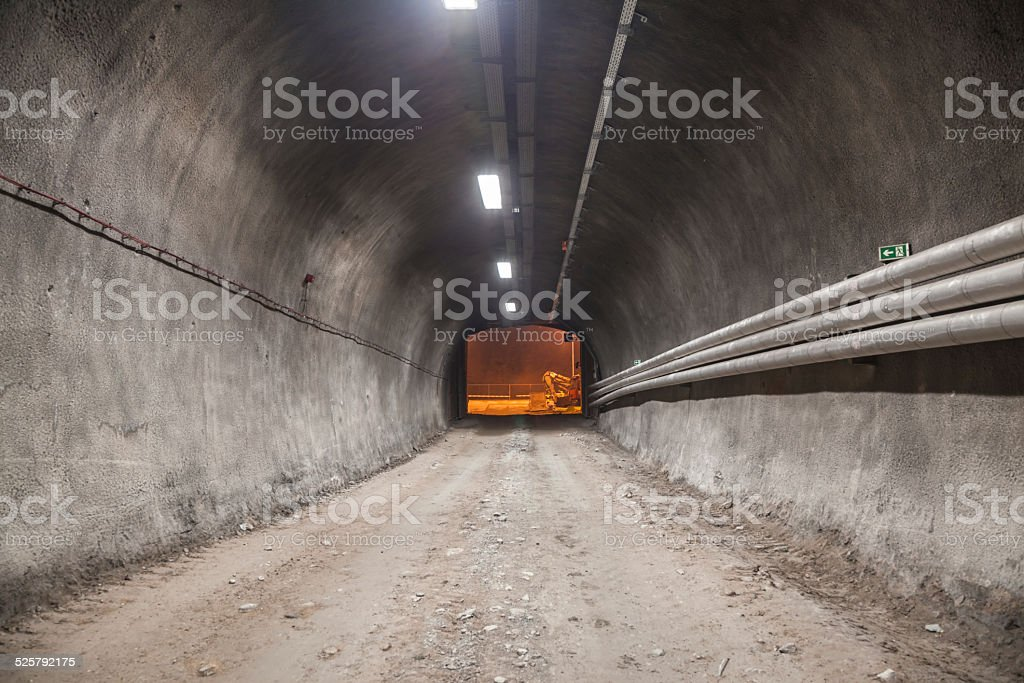 Tunnel exit stock photo