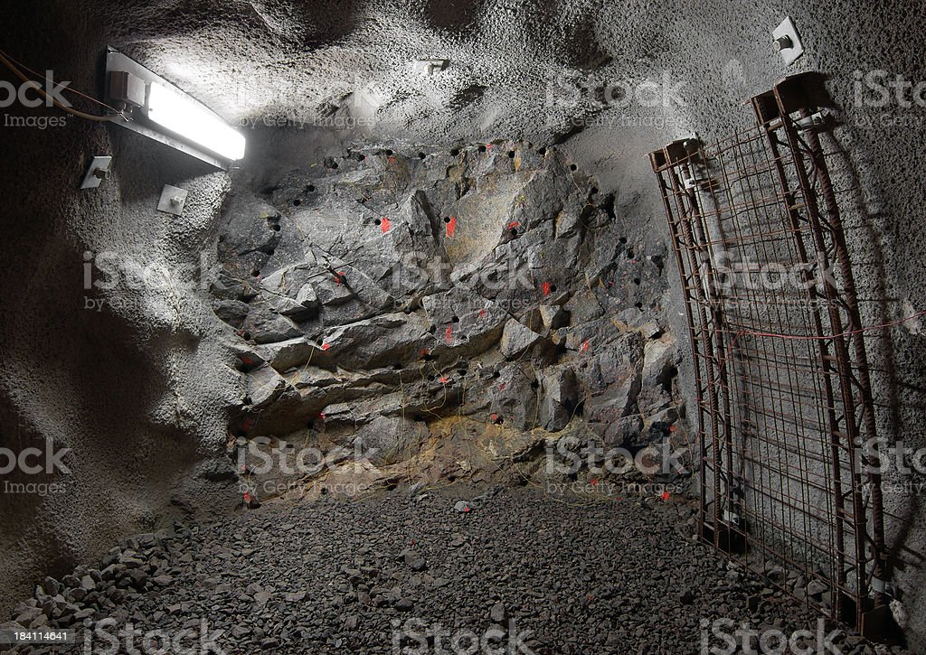 Tunnel front royalty-free stock photo
