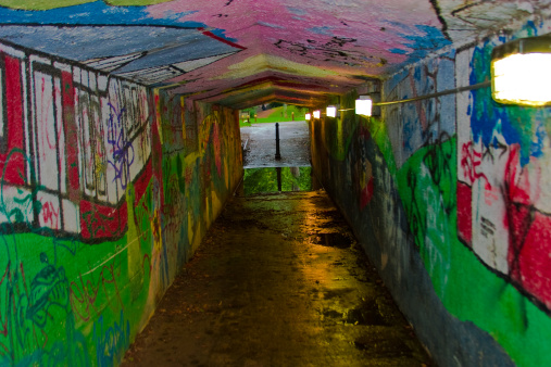 Brightening up an otherwise dull underpass