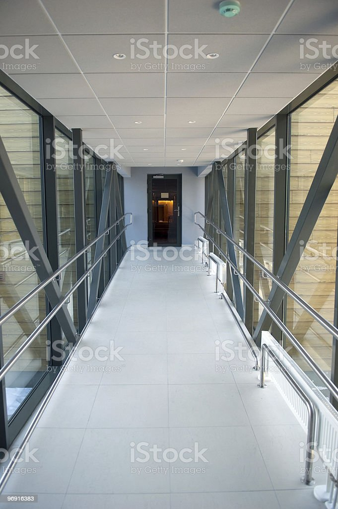 Tunnel in a building royalty-free stock photo