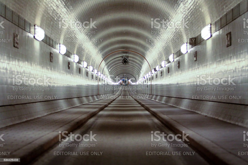 Tunnel in Hamburg stock photo