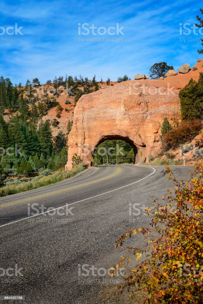 tunnel in the rock royalty-free stock photo